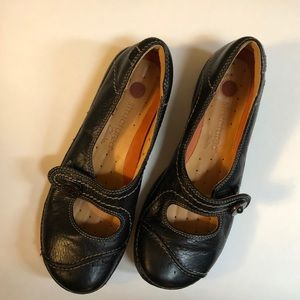 💕Clarks UNSTRUCTURED Black Leather Shoes
